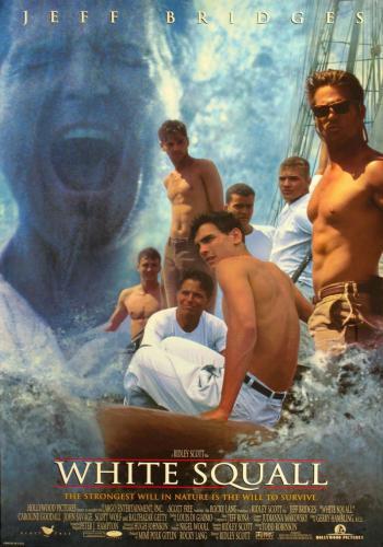 Фильм производства сша , Про учебный парусник на котором плывет команда из студентов и капитана, потом терпят крушение, в конце судят капитана.
