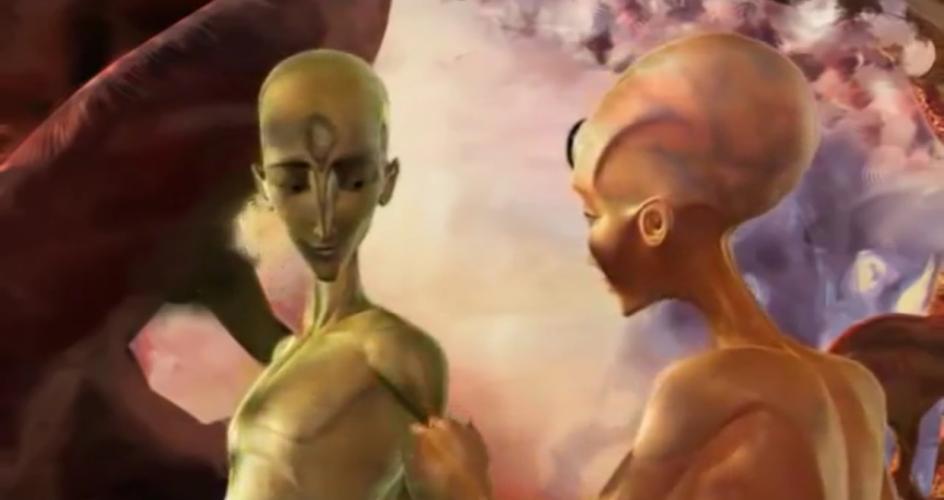 О планете странных существ (3d анимация)
