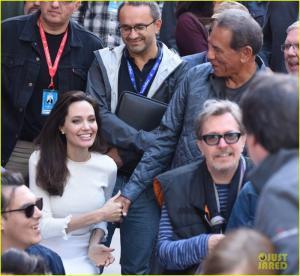 помогите узнать гостя кинофестиваля. Анжелина Джоли кого держит за руку на этой фото? кто это? может кто-нибудь знает. спасибо