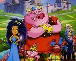 Мультик про свиней очень старый у них был король и у него вроде была дочь