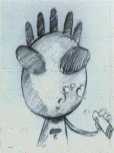 клип рисованый карандашом