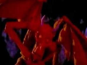 Крутили по СТС. Пластилиновый клип. Фермер играет на скрипке. И вроде бы дьявол прыгает и танцует